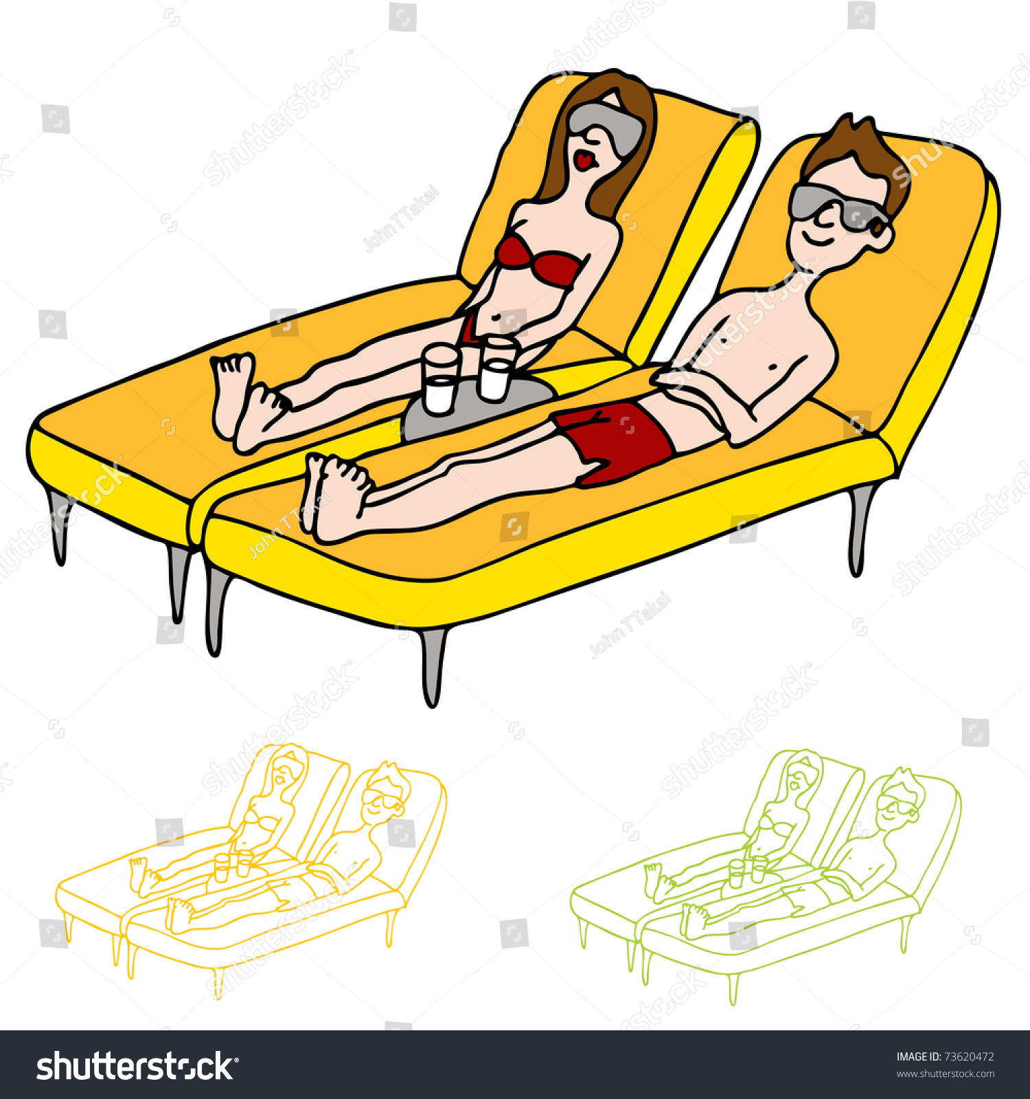 Image Man Woman Lounge Chairs Stock Vector Shutterstock