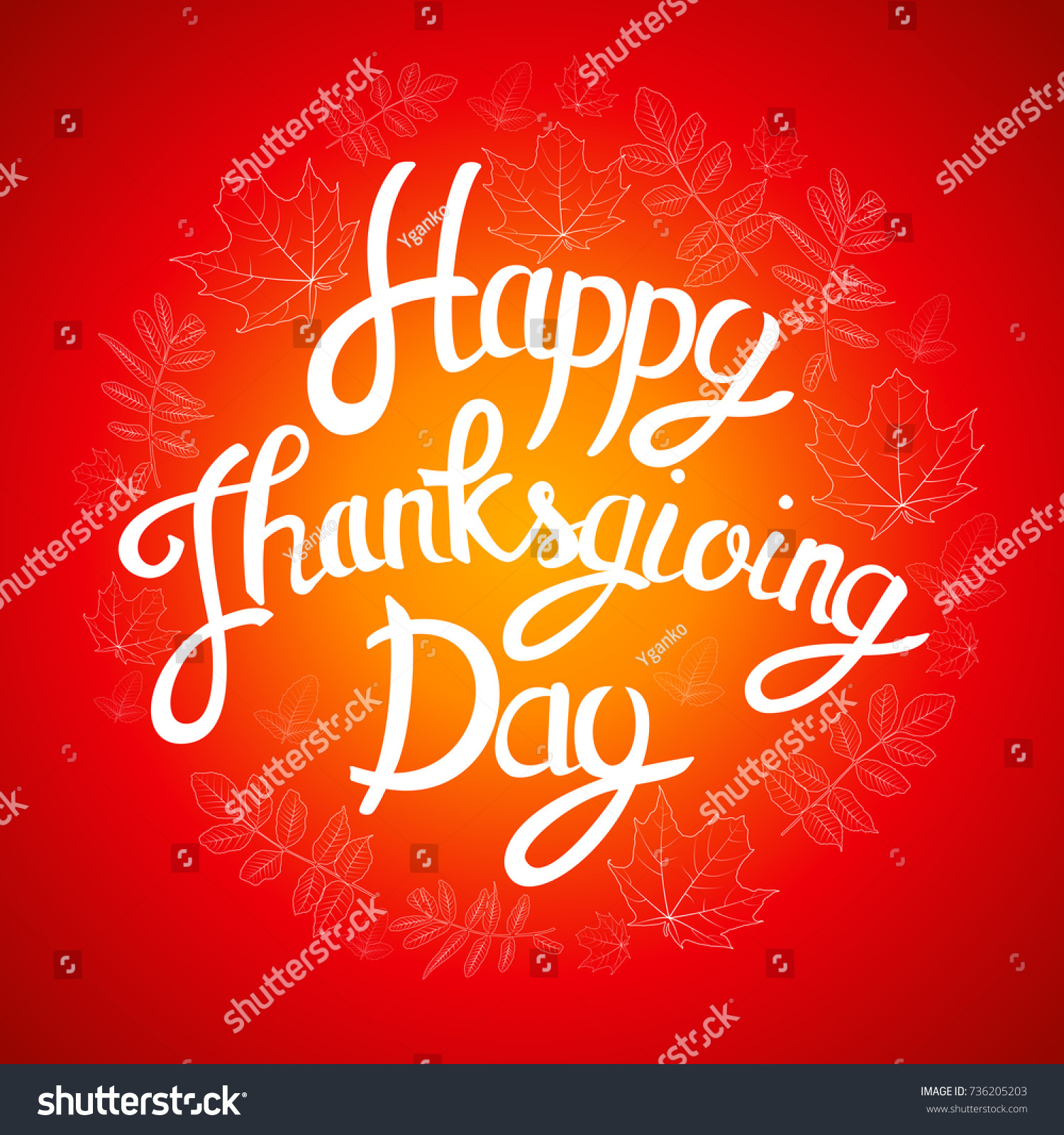 Vector hand drawn lettering thanksgiving day with doodle