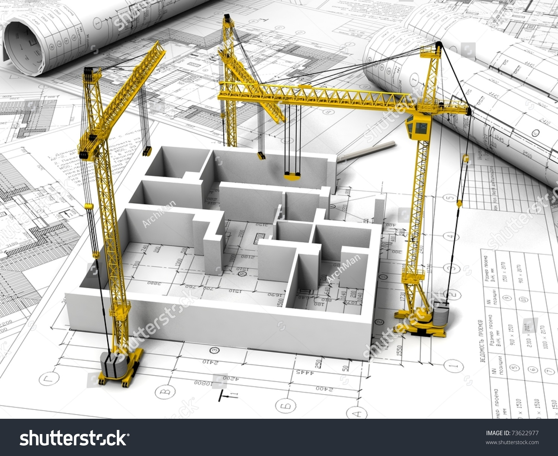 3d Plan Drawing Stock Photo 73622977 Shutterstock