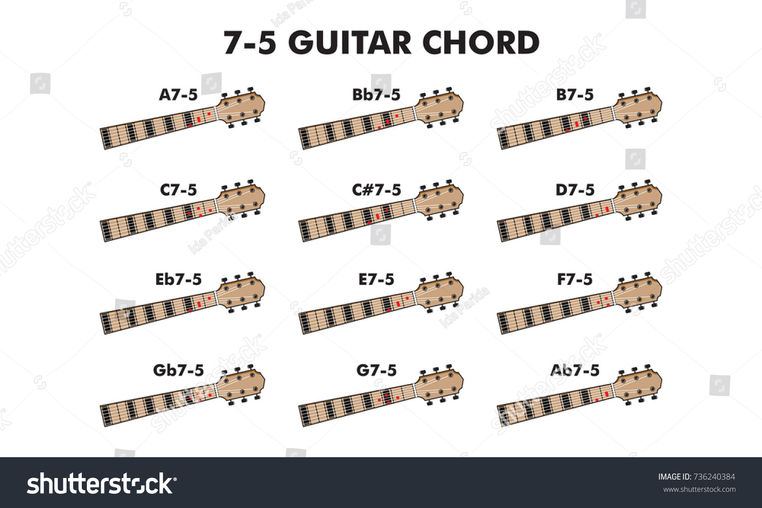 Guitar Chord Vector Illustration Guitar Lesson Stock Vector Royalty