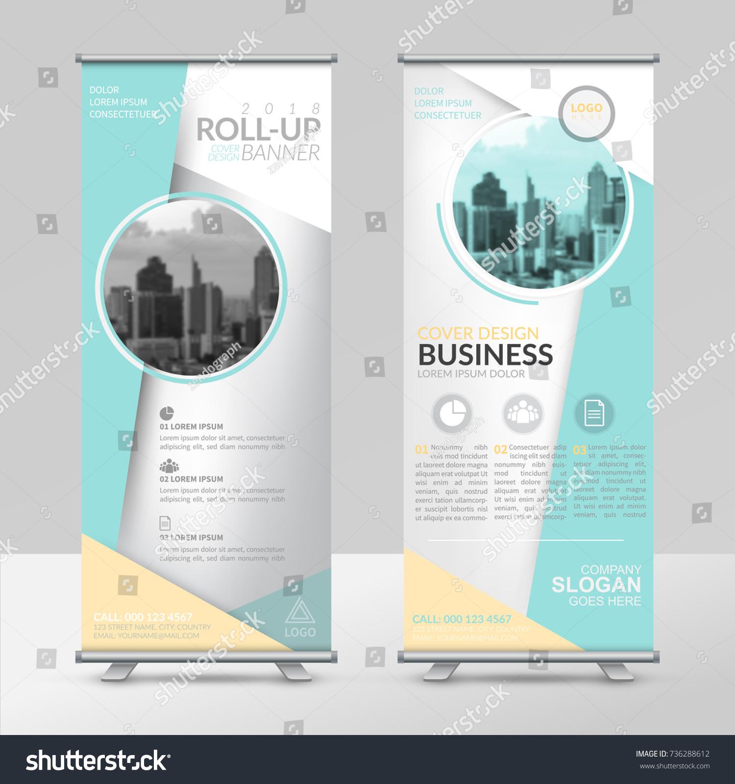 Business Roll Design Template Xstand Vertical Stock Vector 736288612 ...