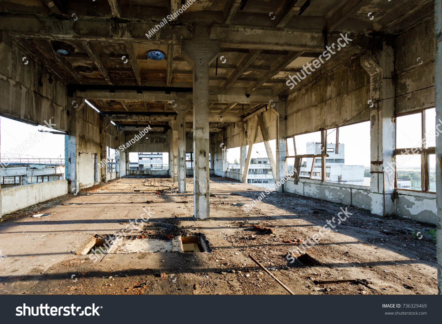 Ruins Old Abandoned Factory Russia Stock Photo 736329469 - Shutterstock for Abandoned Factory Russia  59dqh