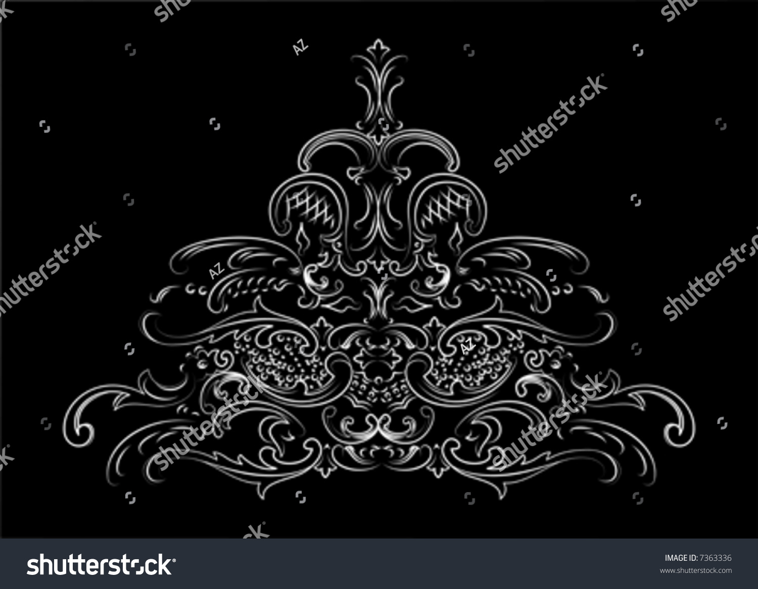 Baroque Ornate Calligraphy Stock Vector 7363336 Shutterstock
