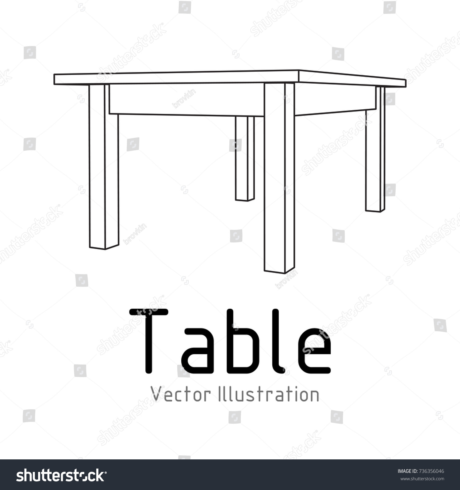 Blueprint furniture on pico furniture ideas table furniture wireframe blueprint linear outline stock vector malvernweather Images