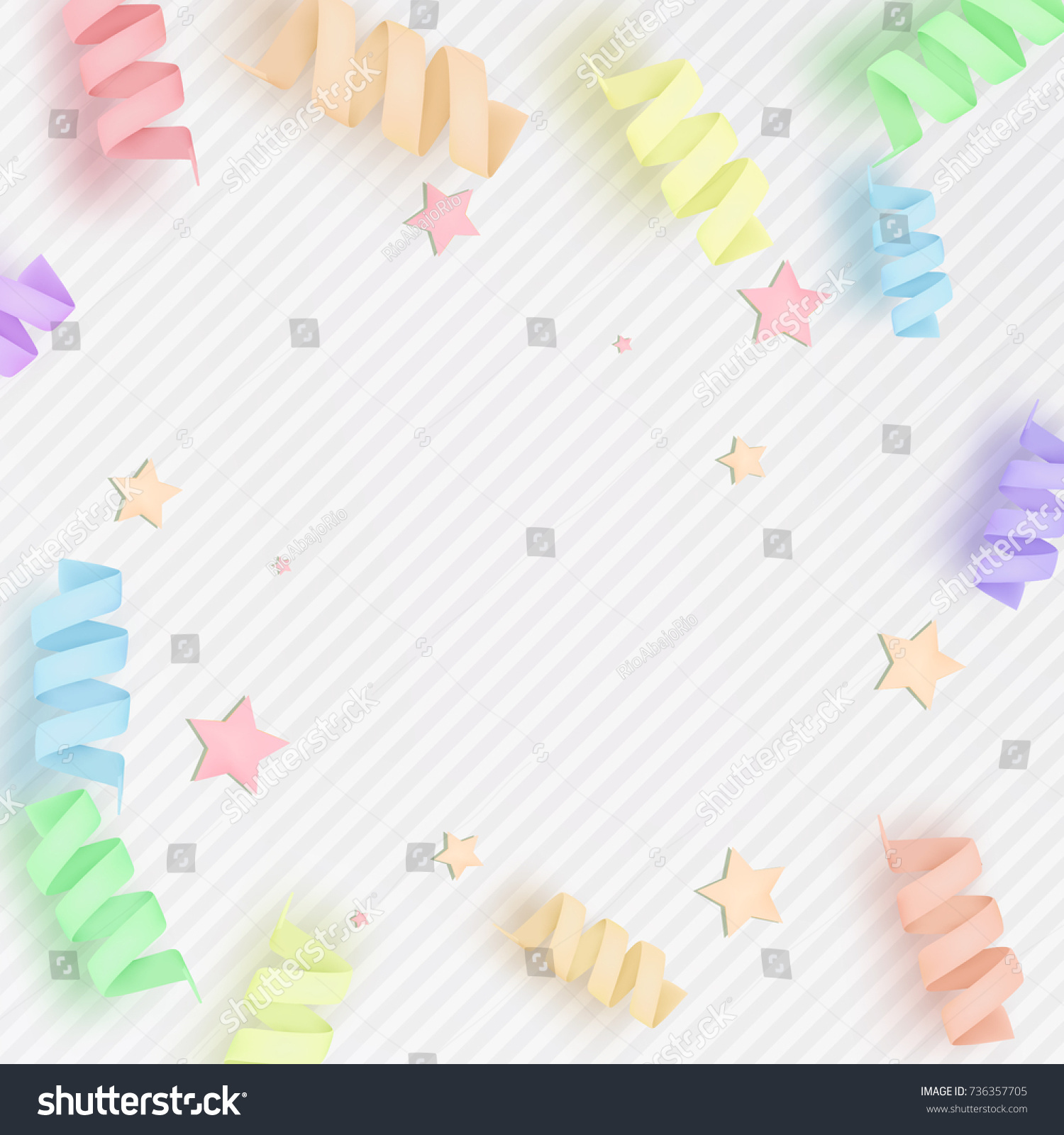 Soft Tender Colorful Background Stars Cute Stock Vector Royalty Free 736357705