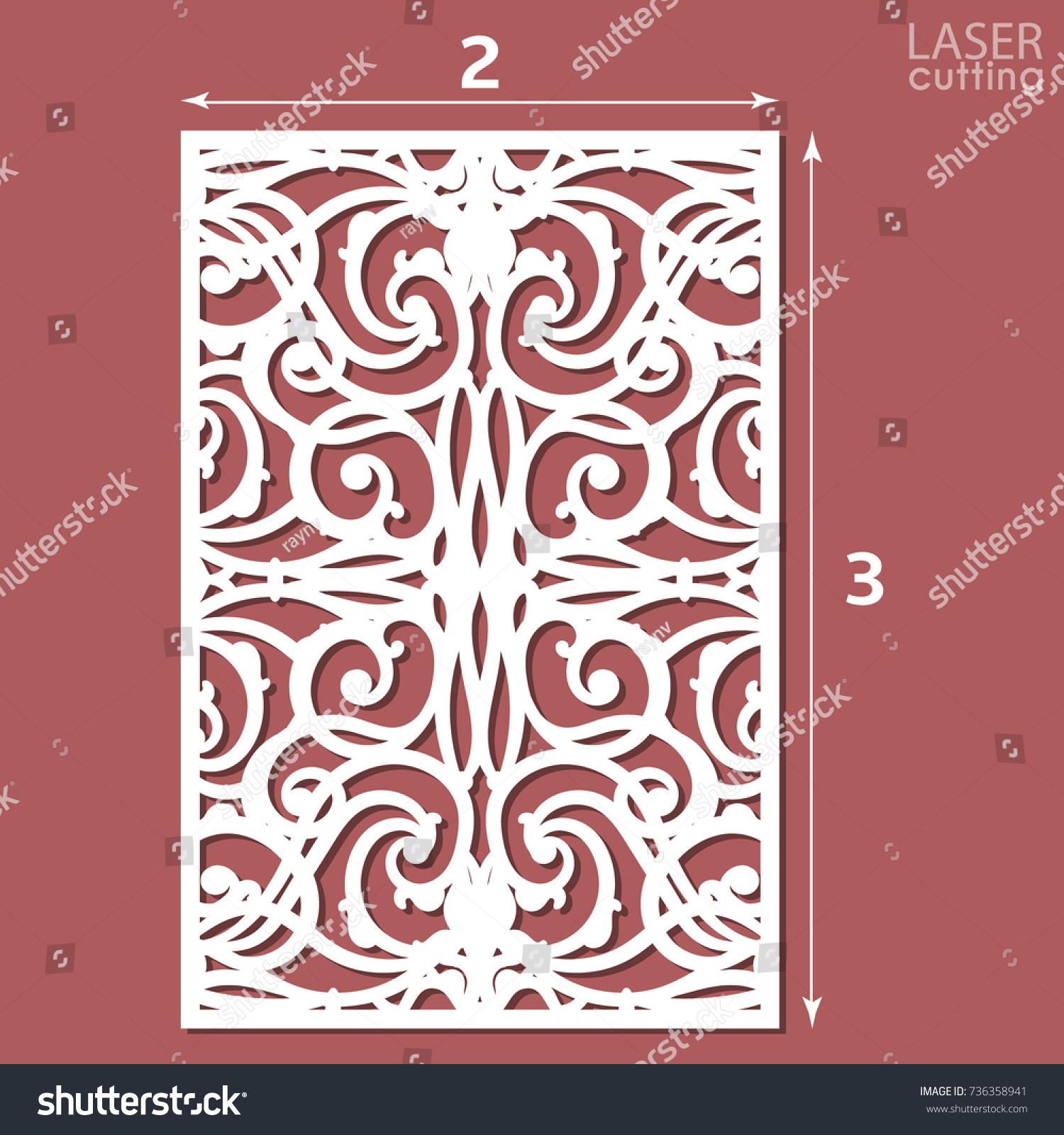 Laser Cut Ornamental Panel Pattern Template Stock Vector 736358941 ...