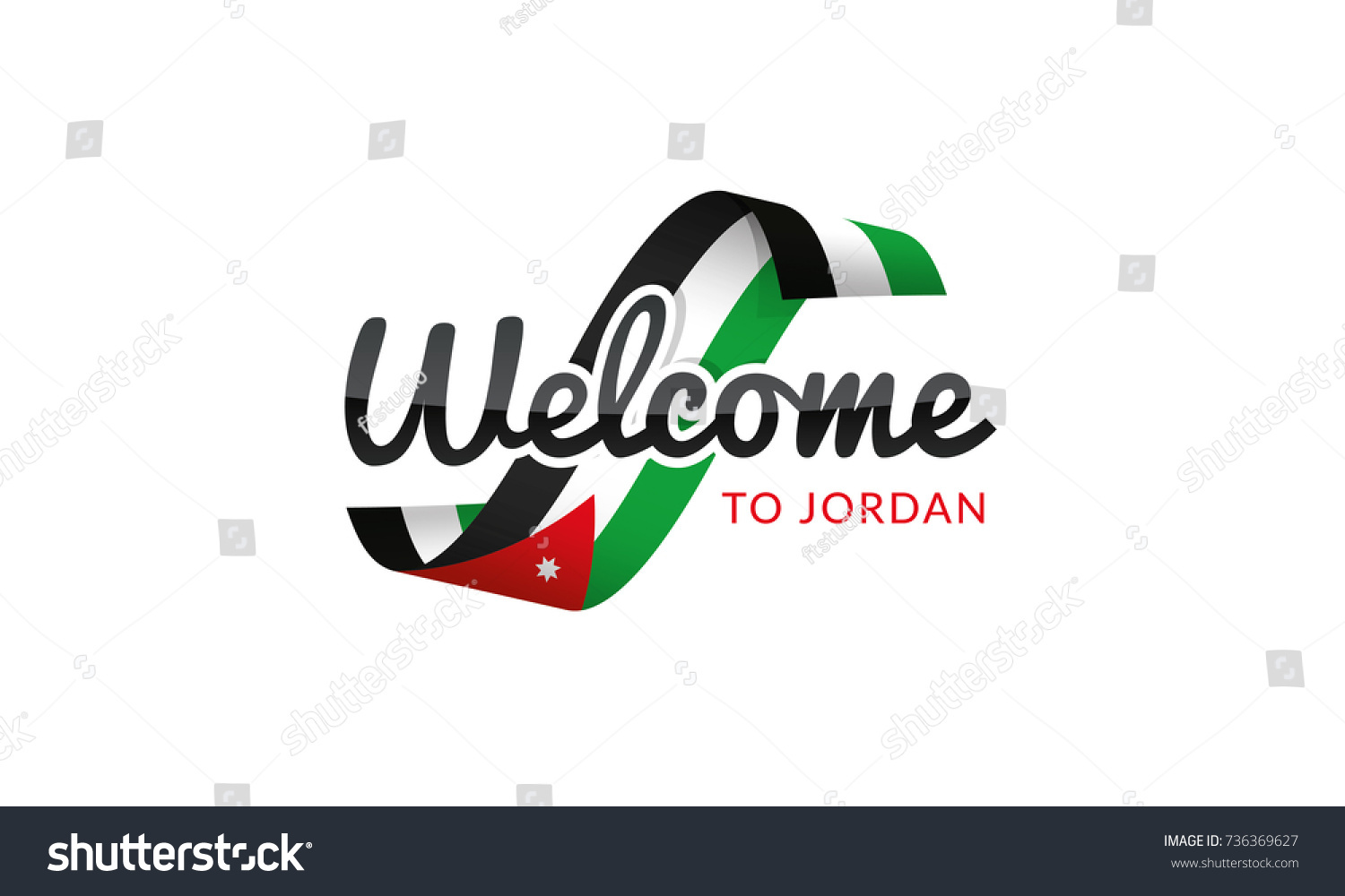 Welcome jordan flag sign logo icon stock vector 736369627 shutterstock welcome to jordan flag sign logo icon biocorpaavc Gallery
