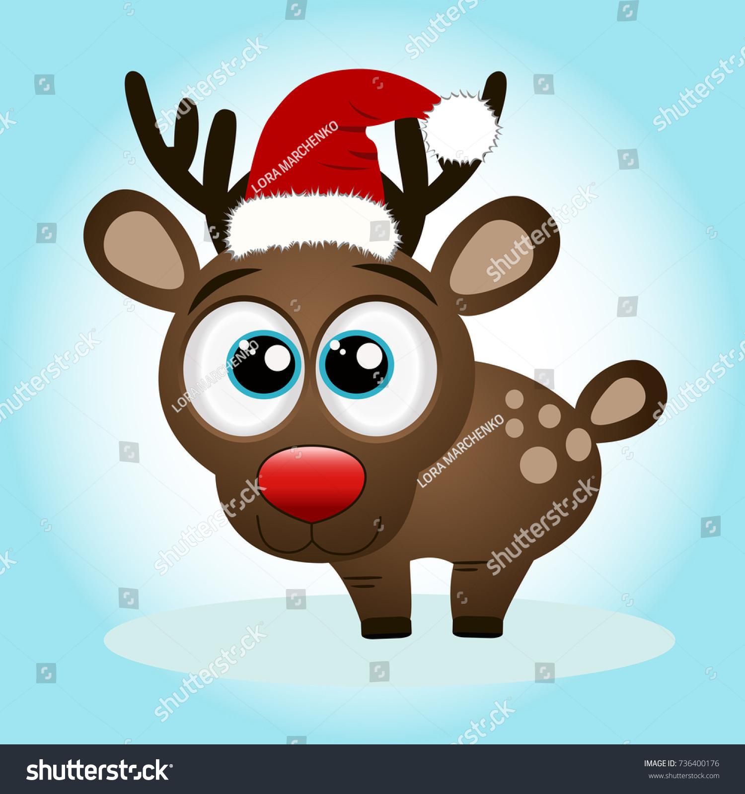 Christmas Reindeer Christmas Card Funny Reindeer Stock Vector ...