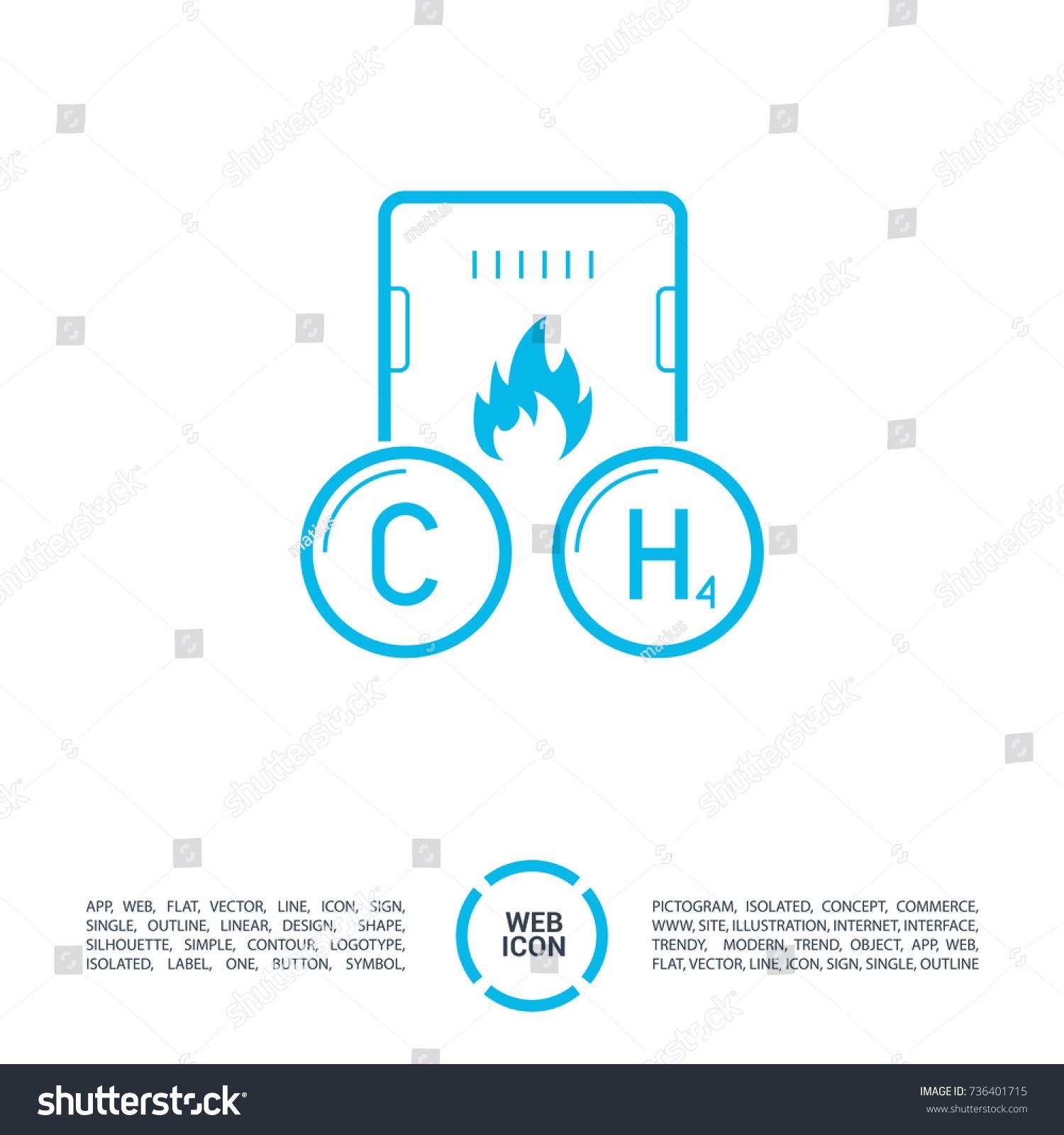 Gas Methane Boiler Line Vector Icon Stock Vector (Royalty Free ...