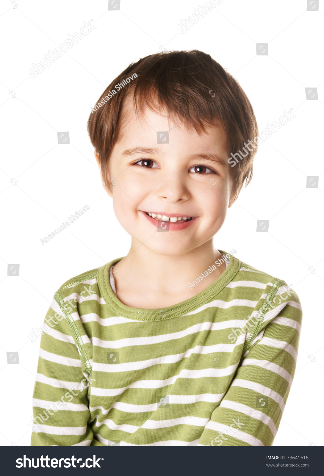 Cute Stock Photography: Cute Smiling Happy Little Boy Isolated On White Background