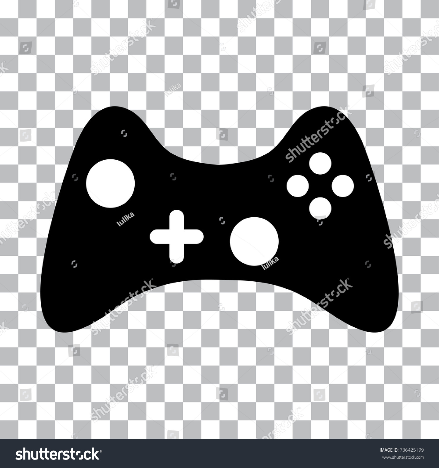 Black White Joystick Computer Games On Stock Vector Royalty Free 736425199