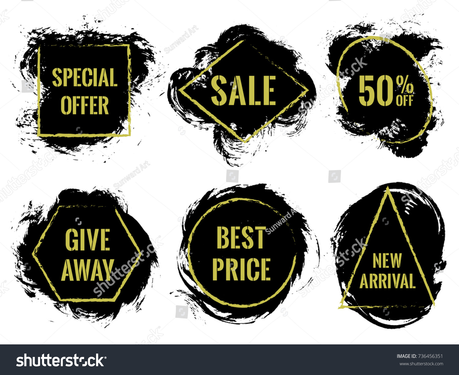 Marketing banners sale vector collection advertising stock vector marketing banners for sale vector collection advertising banners with geometric shape borders frames sciox Choice Image