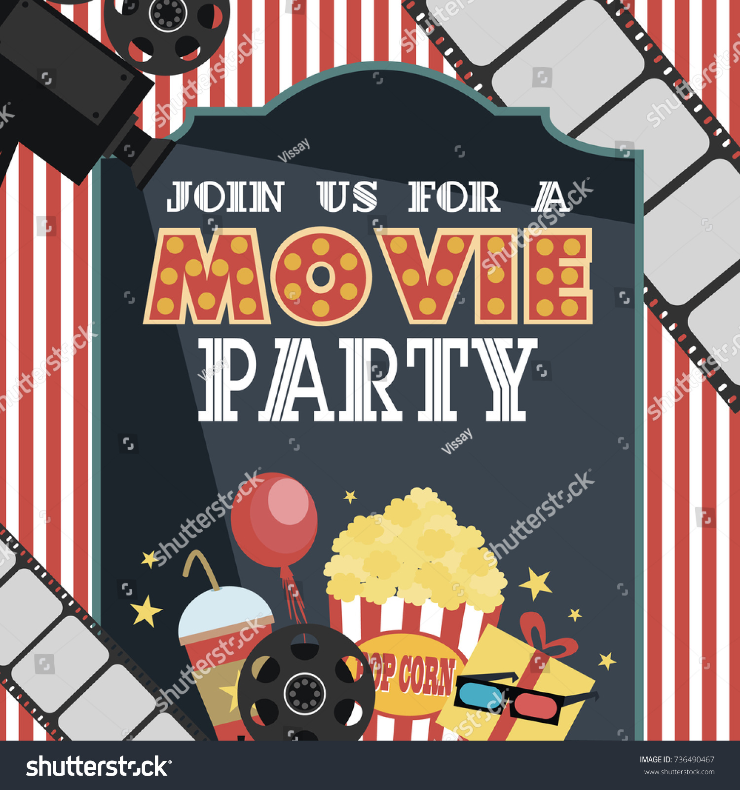movie party invitation - Military.bralicious.co