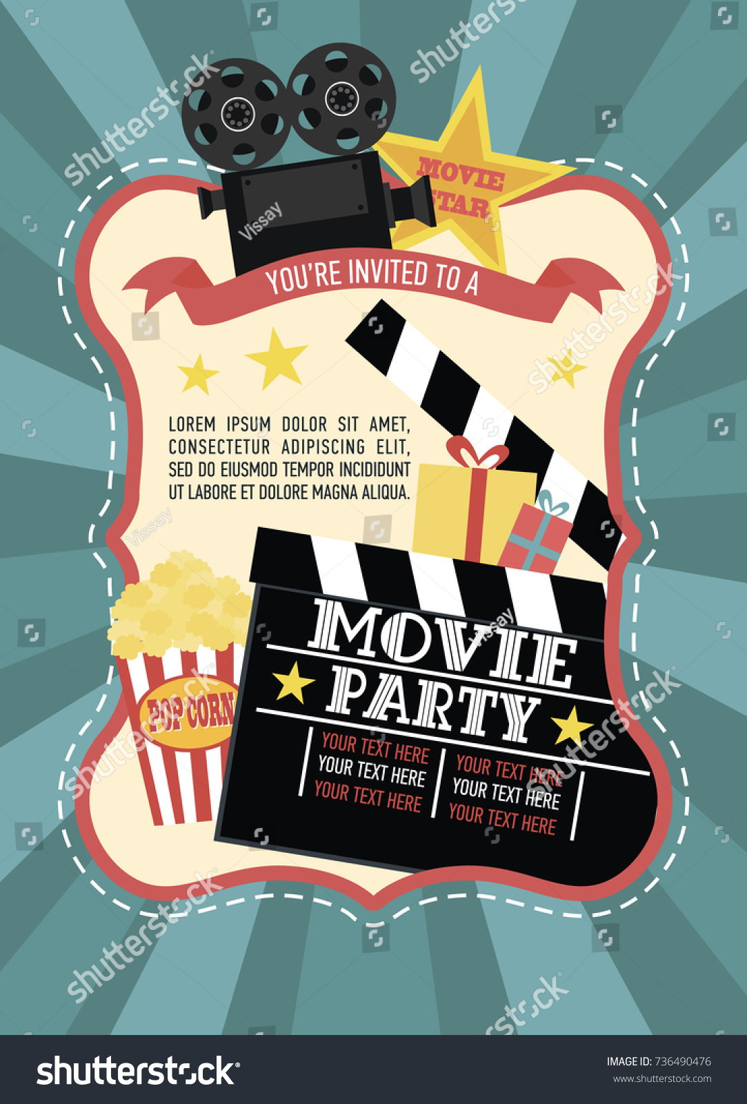 Hollywood Theme Party Party Invitations - oukas.info