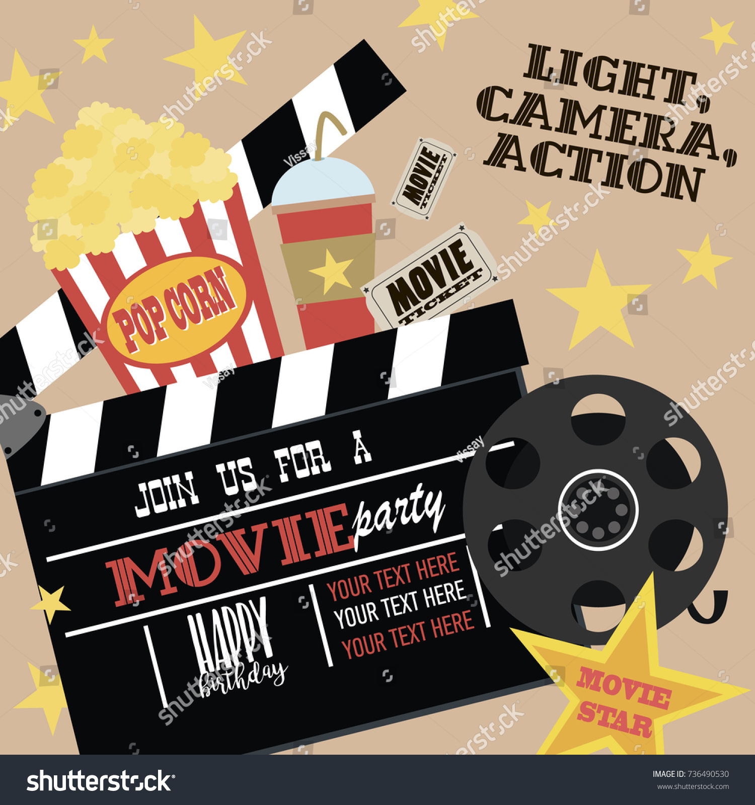 Hollywood Theme Party Invites Images - Party Invitations Ideas