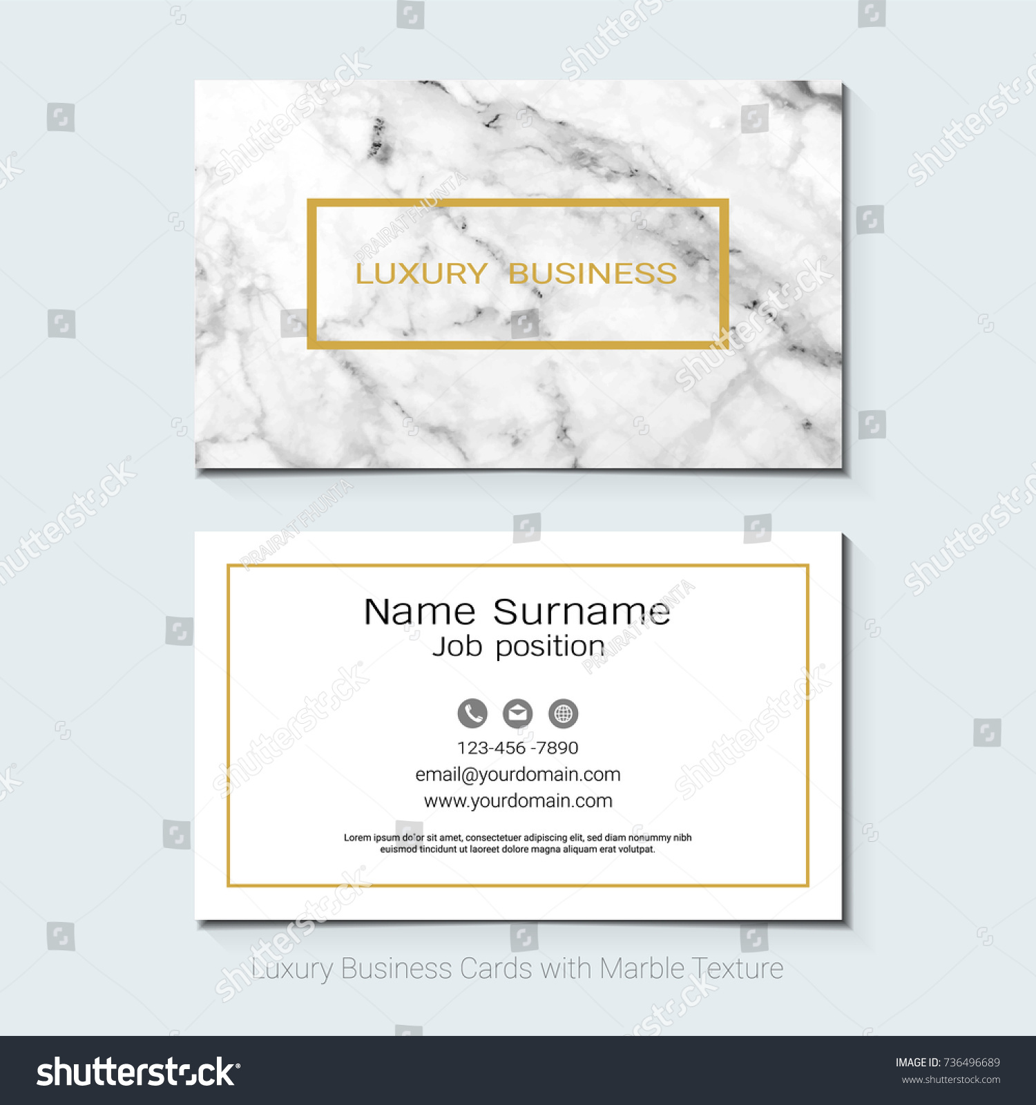 Luxury Business Cards Vector Template Banner Stock Vector 736496689 ...