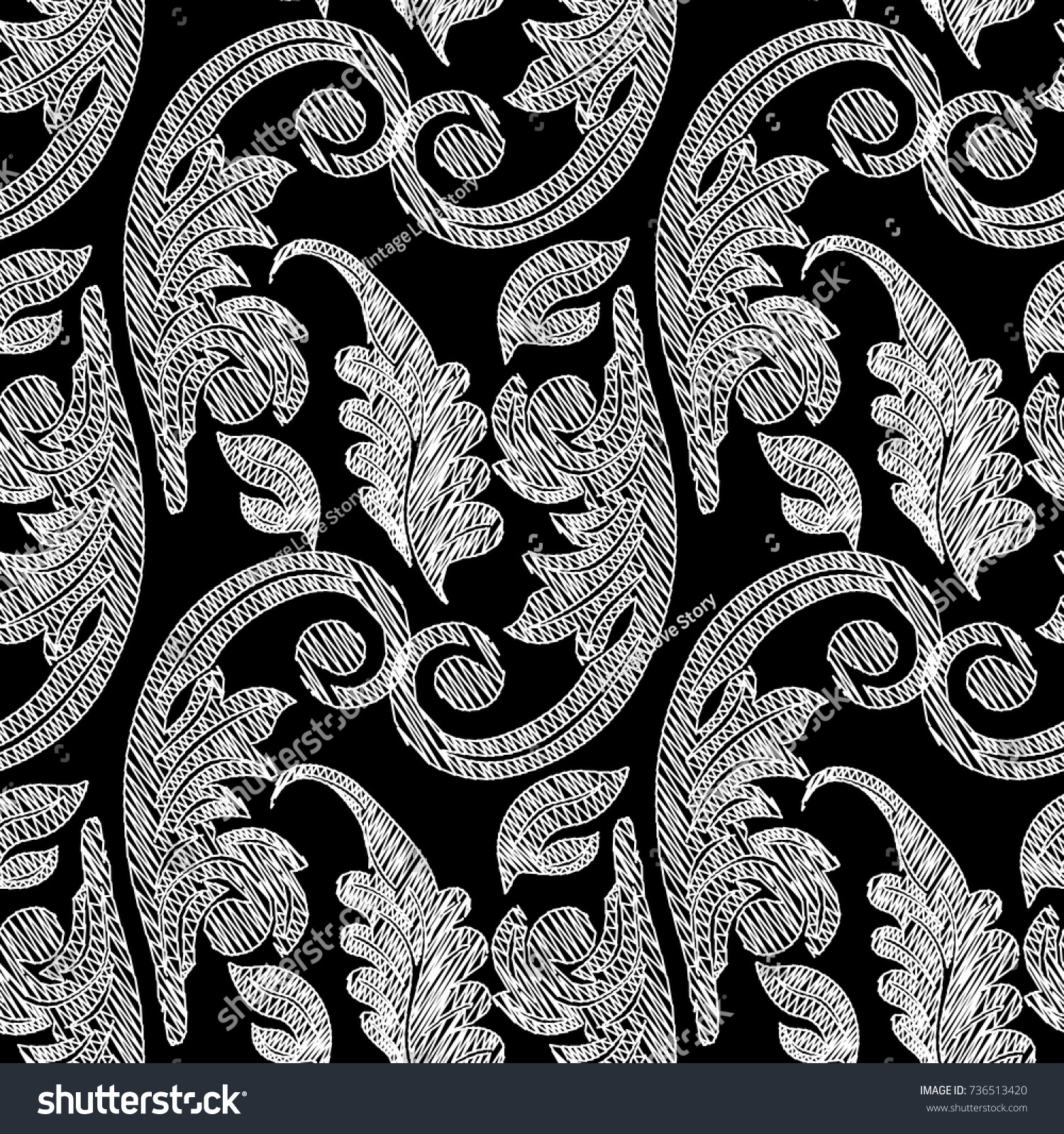 leaf scroll wallpaper vintage patterns - photo #25