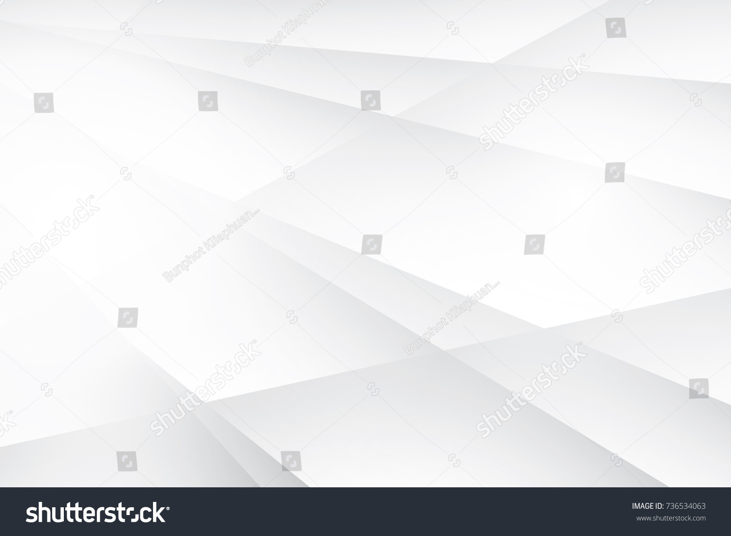 Abstract geometric white and gray color background, vector illustration. #736534063
