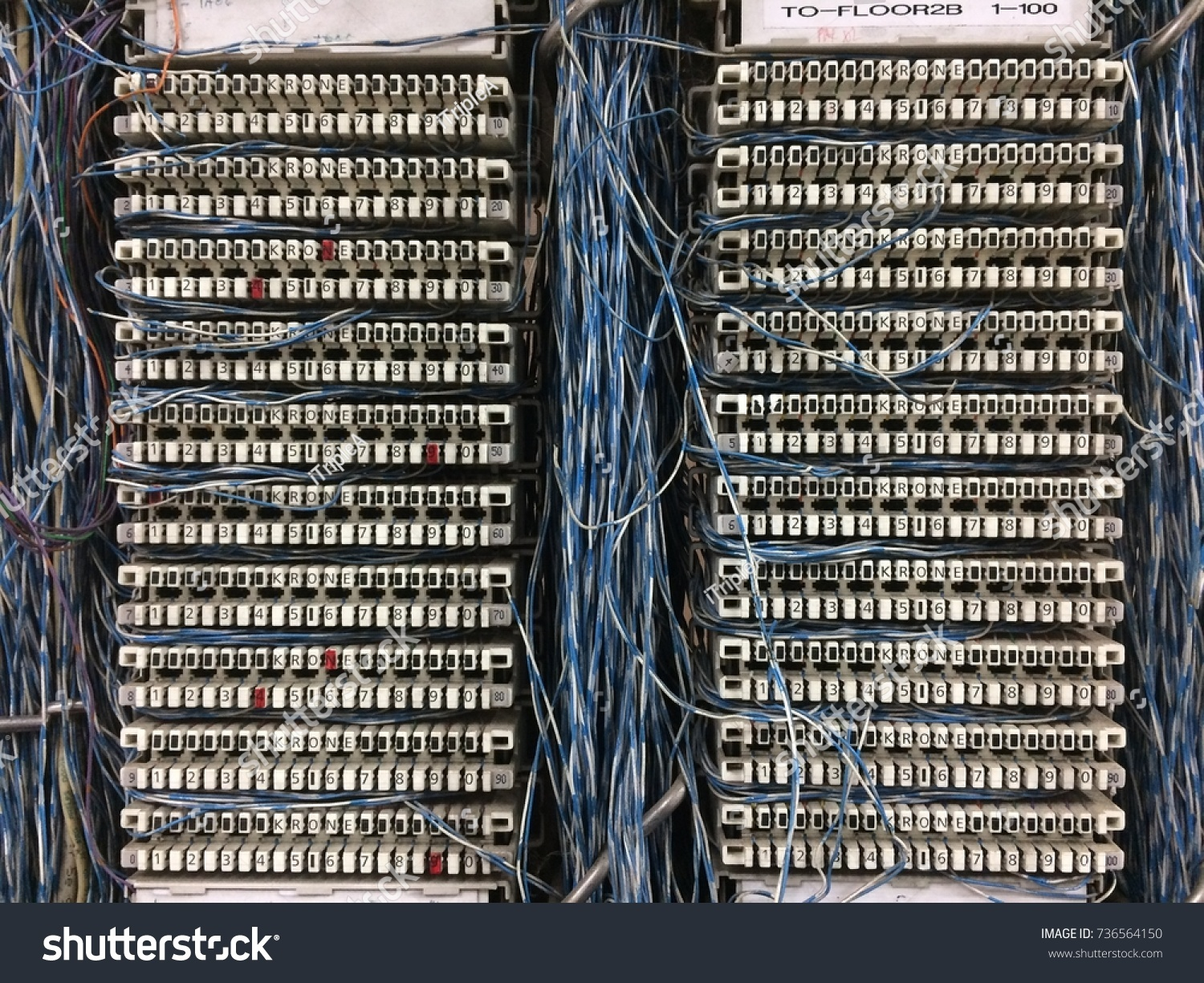 Awe Inspiring Old Telephone Wiring Cable System Providing Stock Photo Edit Now Wiring 101 Capemaxxcnl