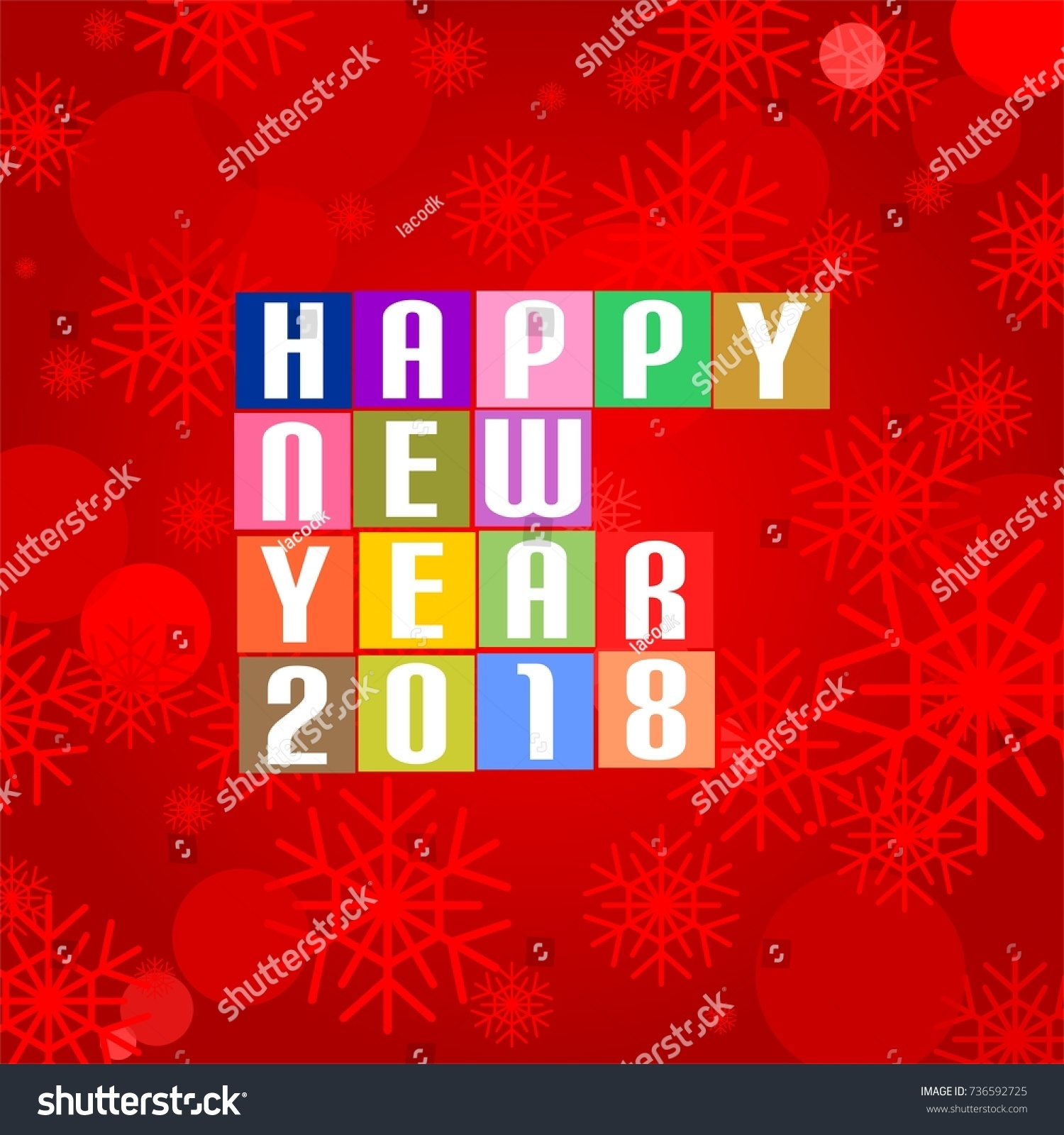 New Year Greetings 2018 White Lettering Stock Vector Royalty Free