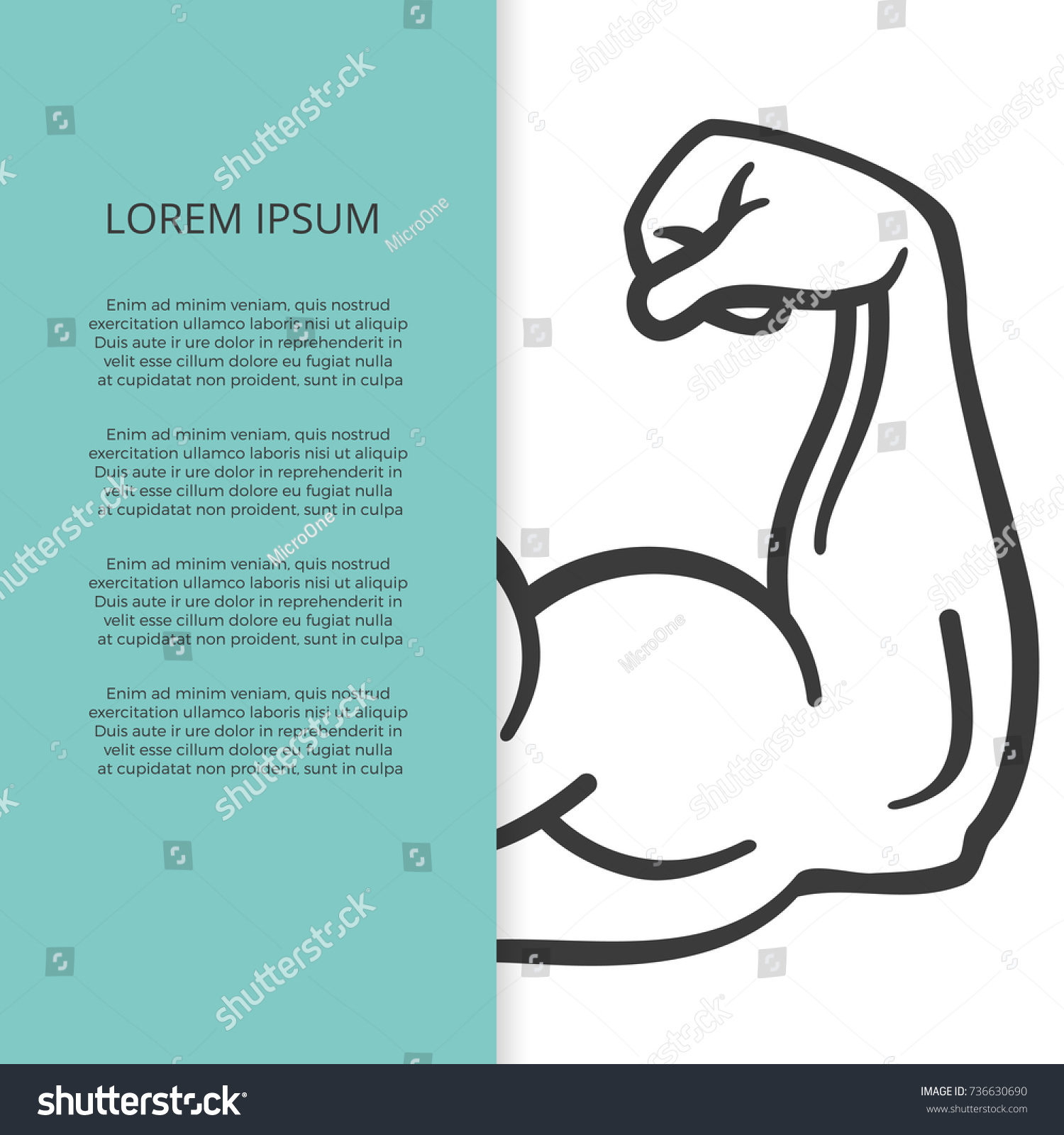 male muscle arm hand brochure banner stock vector royalty free