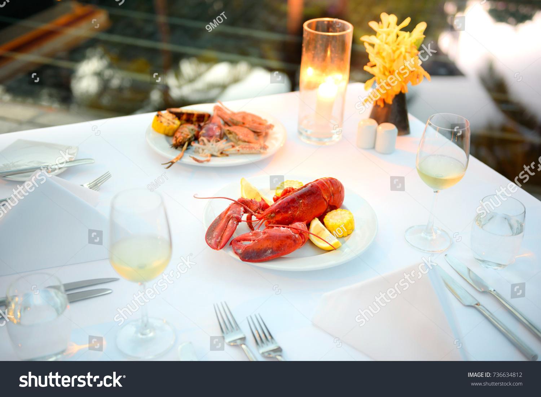 Luxury Romantic Candle Light Dinner Setup Stock Photo 736634812 - Shutterstock & Luxury Romantic Candle Light Dinner Setup Stock Photo 736634812 ...