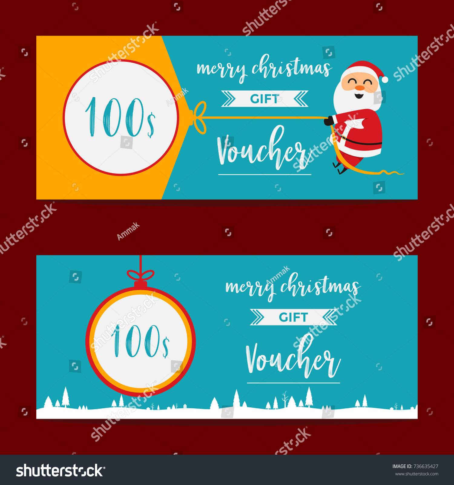 voucher gift coupon certificate template vector stock vector