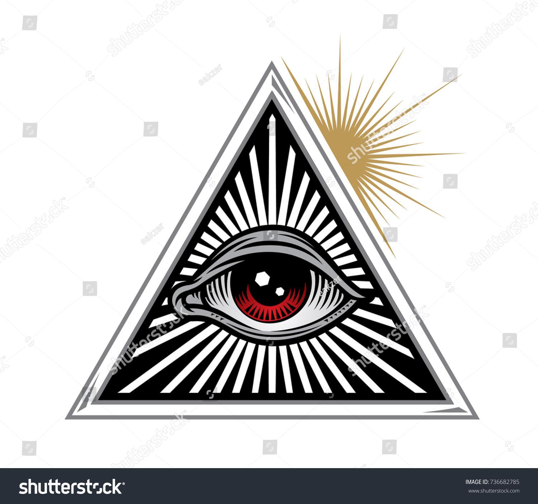 All seeing eye delta triangle lluminati stock vector 736682785 all seeing eye in delta triangle lluminati symbols vector illustration biocorpaavc