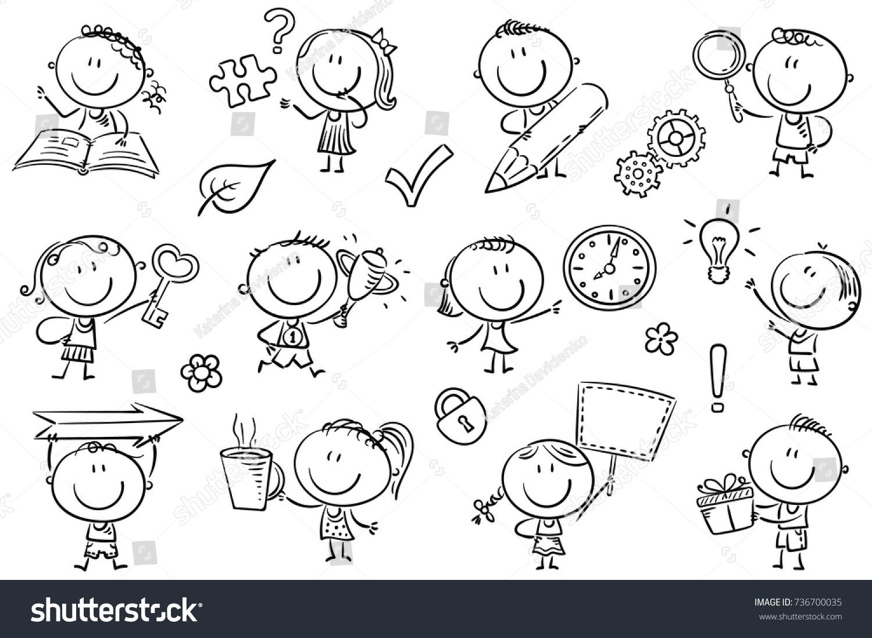 Kids Symbols Like Arrow Key Puzzle Stock Vector Royalty Free