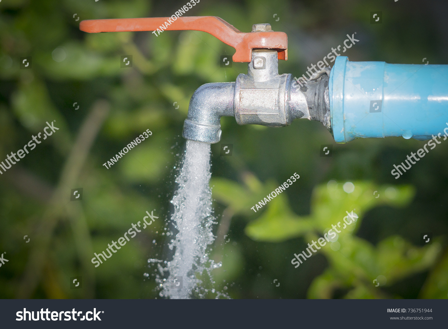 Water Drop Old Chrome Faucet Water Stock Photo (100% Legal ...