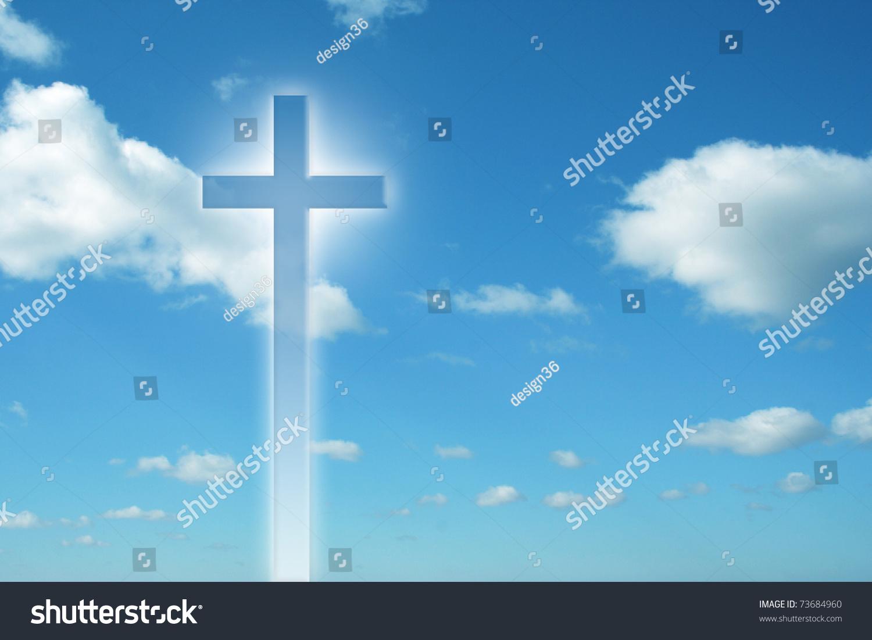 high resolution christian cross over a beautiful sky stock photo 73684960   shutterstock