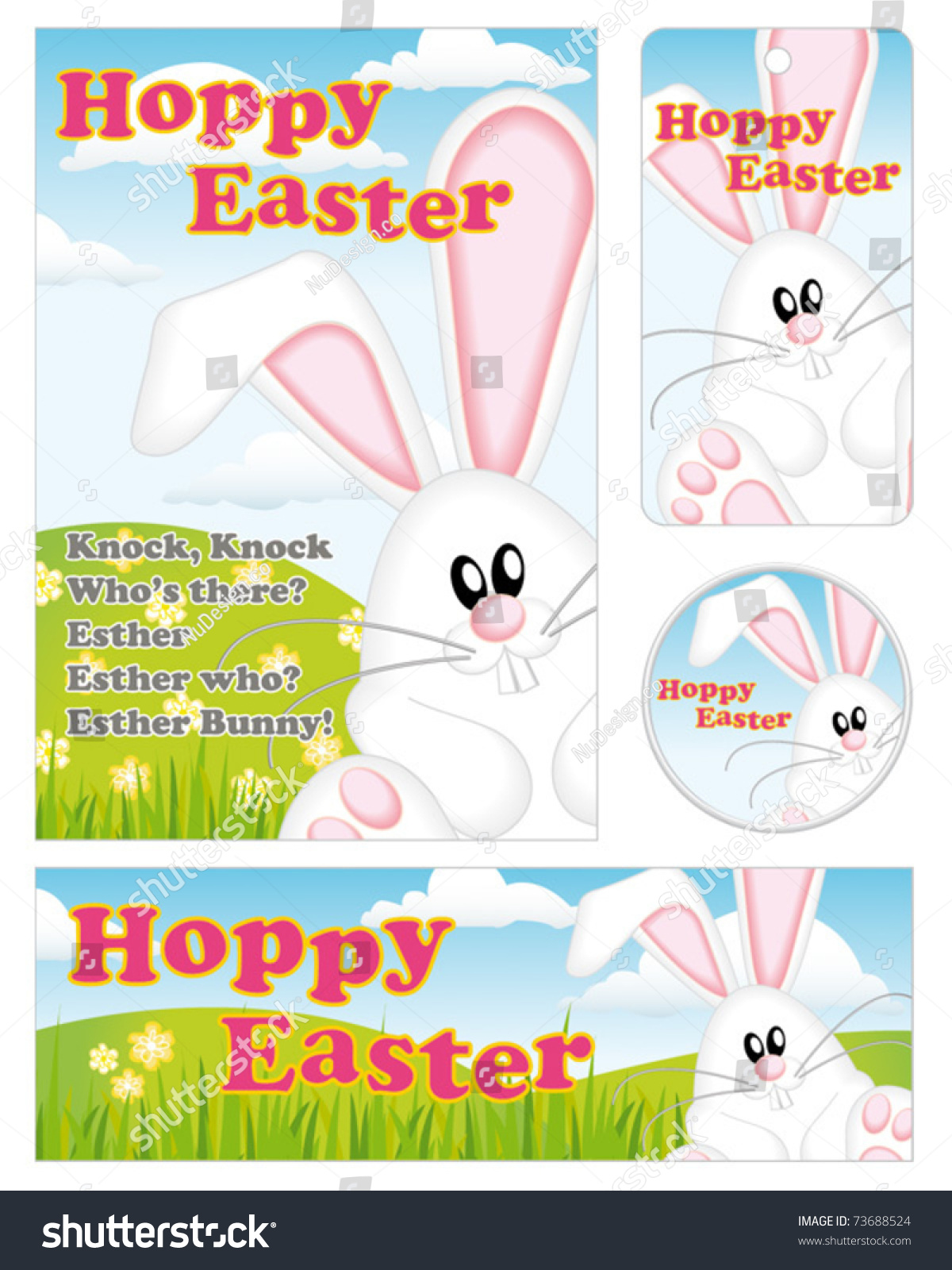 Cute easter bunny greeting card gift stock vector 73688524 cute easter bunny greeting card gift tag banner and badge use to create negle Image collections