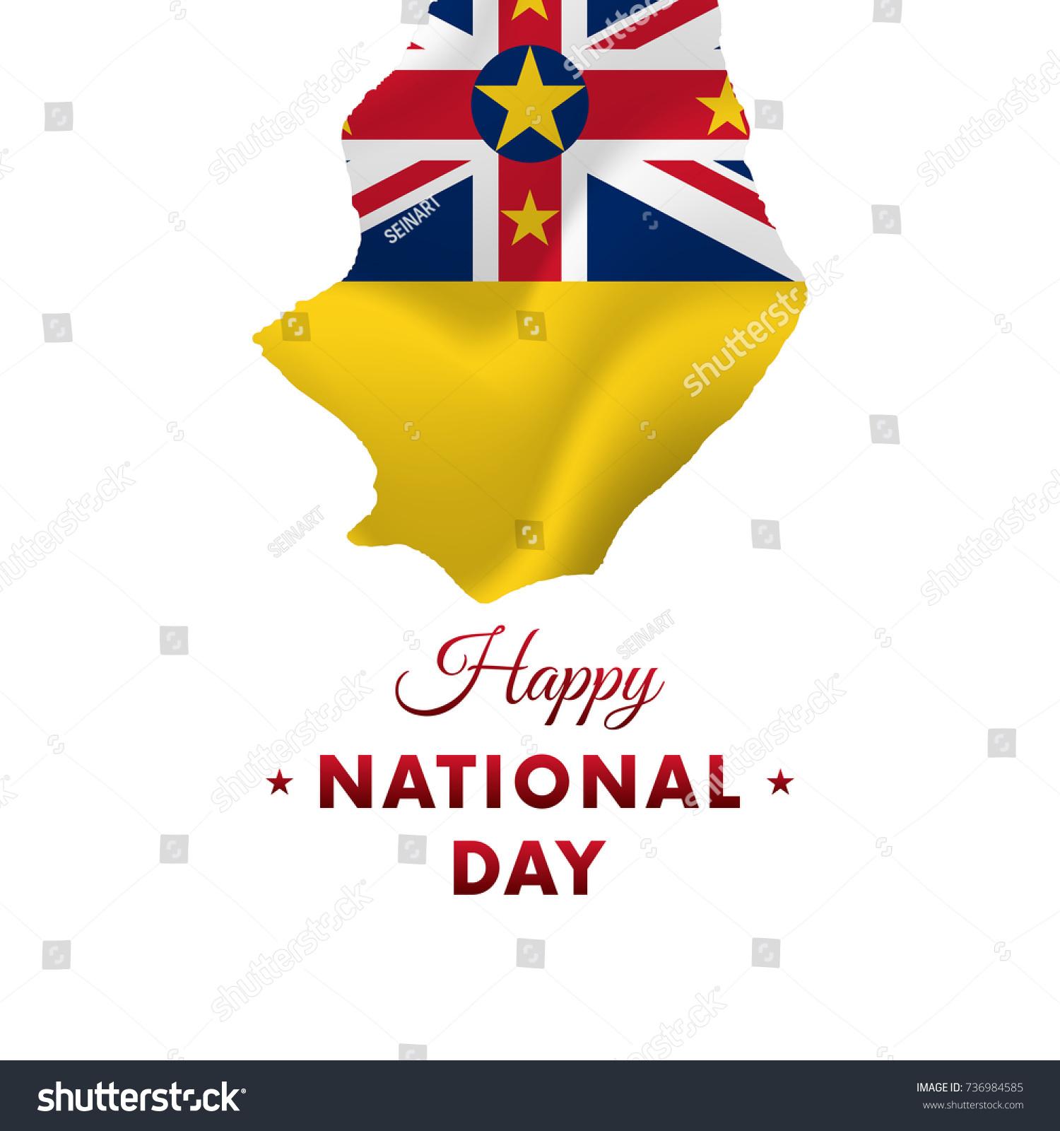 Niue National Day Niue Map Vector Stock Vector - Niue map