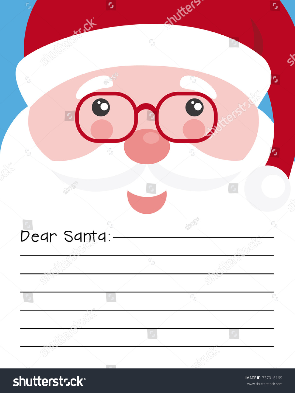 Letter Santa Claus Stock Vector   Shutterstock