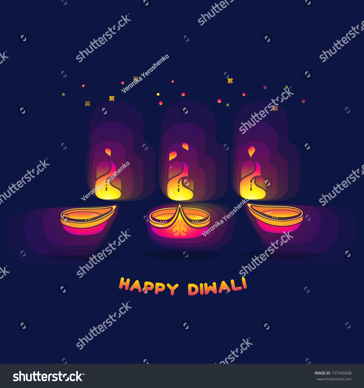 Happy diwali greeting card festival lights stock vector 737045608 happy diwali greeting card the festival of lights vector illustration diwali lamps bright kristyandbryce Gallery