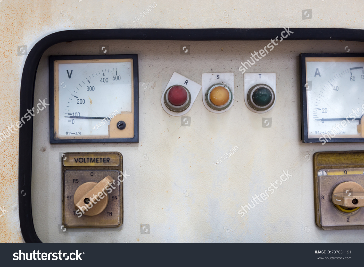 Old Electric Panel Old Brick Building Stock Photo (Royalty Free ...