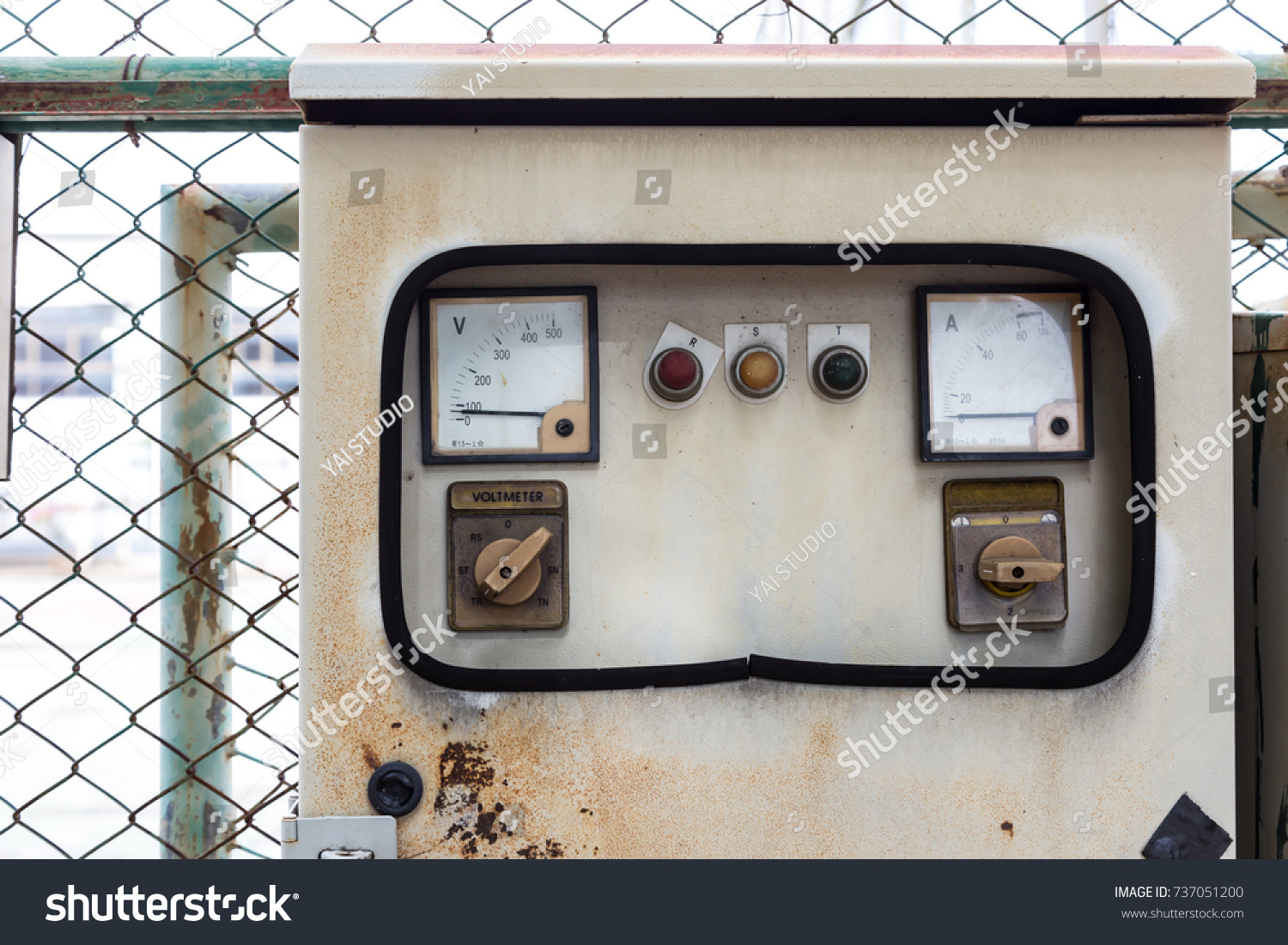 Old Electric Panel Brick Building Electrical Stock Photo (Royalty ...