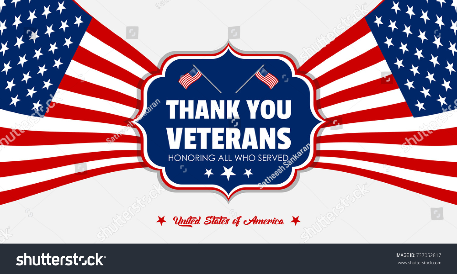 Creative veterans day background greetings united stock vector creative veterans day background and greetings for united states of america patriotic vector elements and kristyandbryce Choice Image