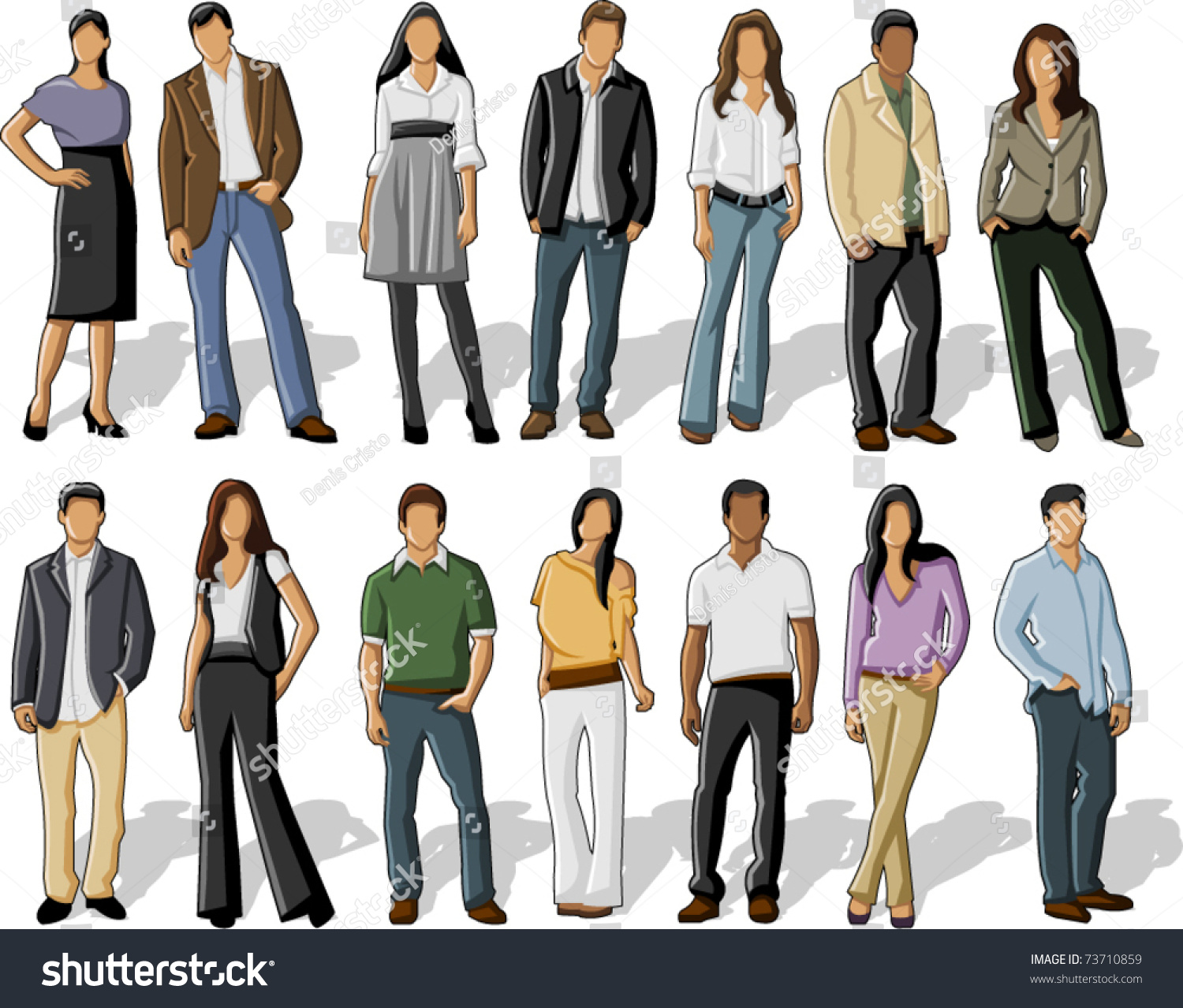 Group Business Office People Stock Vector 73710859 - Shutterstock