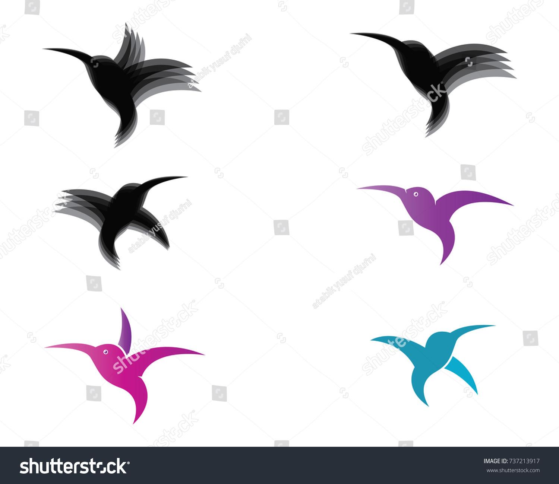 Hummingbird Logo Template Stock Vector Royalty Free 737213917