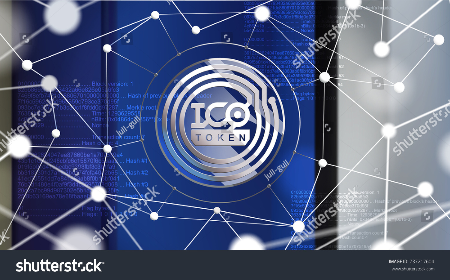 Ico Initial Coin Offering Ico Token Stock Vector (Royalty Free