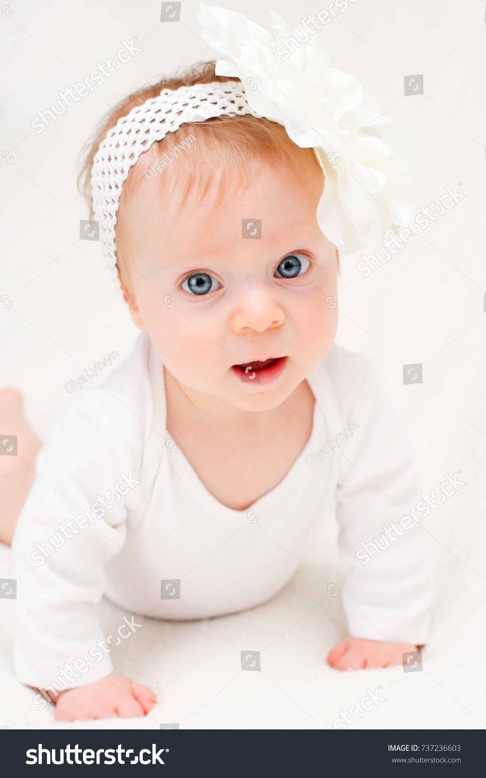 very cute blonde adorable baby girl stock photo (download now