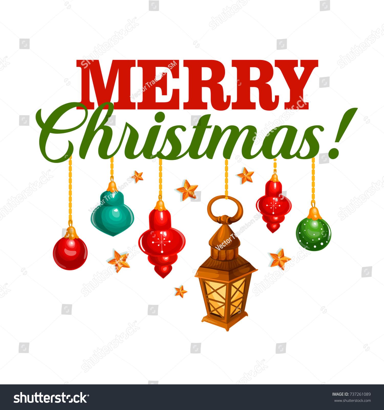Christmas Ball Icon New Year Holiday Stock Vector Royalty Free