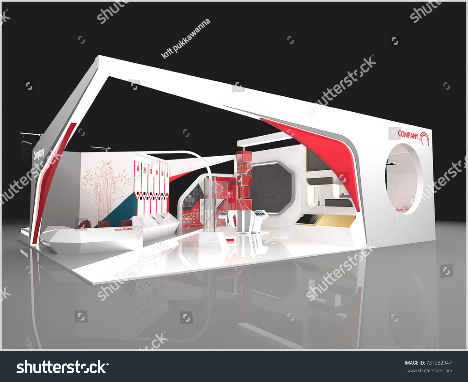Modern Exhibition Stand Up : Exhibition stand modern design used mockups stock