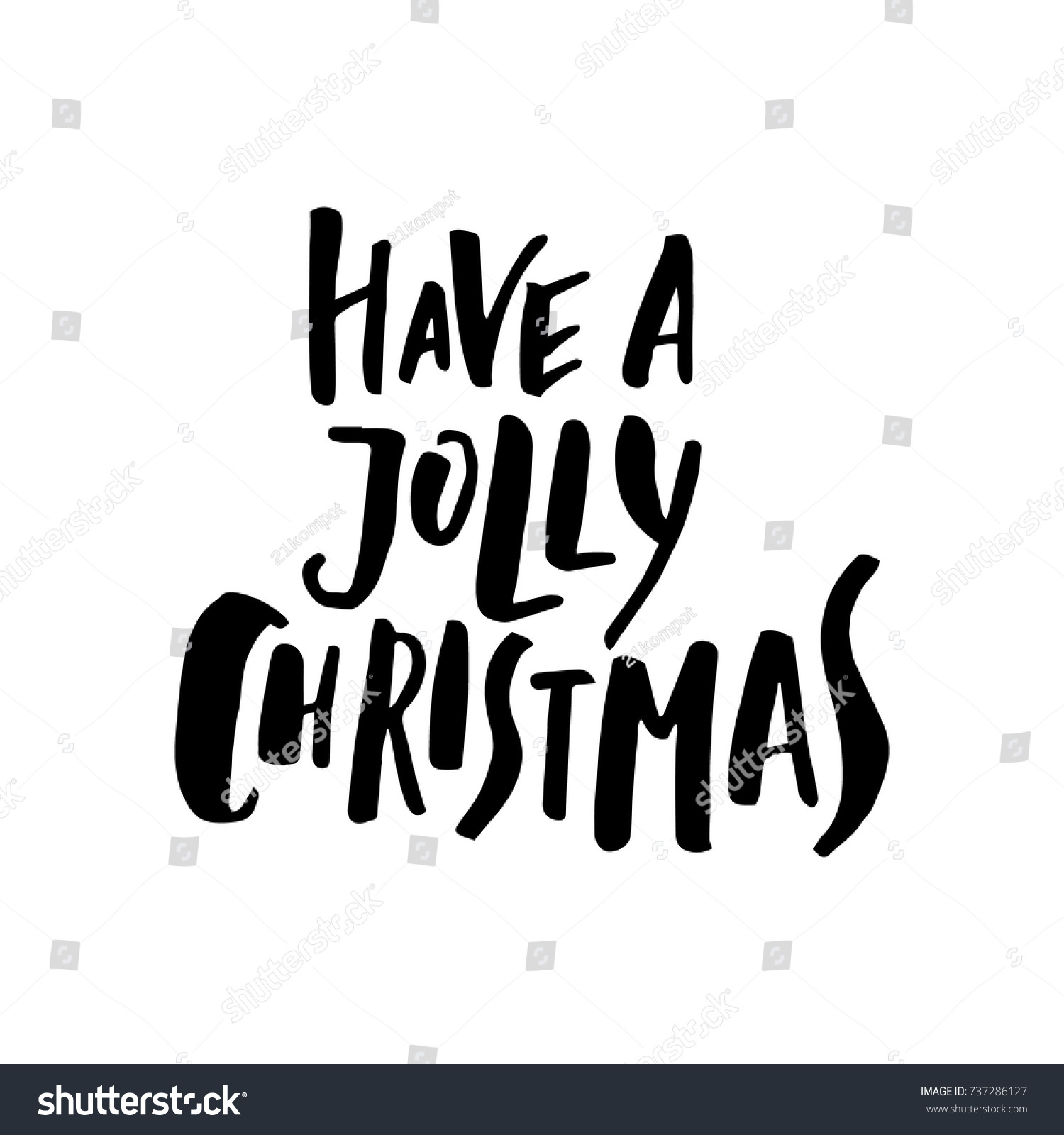 Merry christmas card calligraphy have jolly stock vector 737286127 merry christmas card with calligraphy have a jolly christmas template for greetings kristyandbryce Image collections