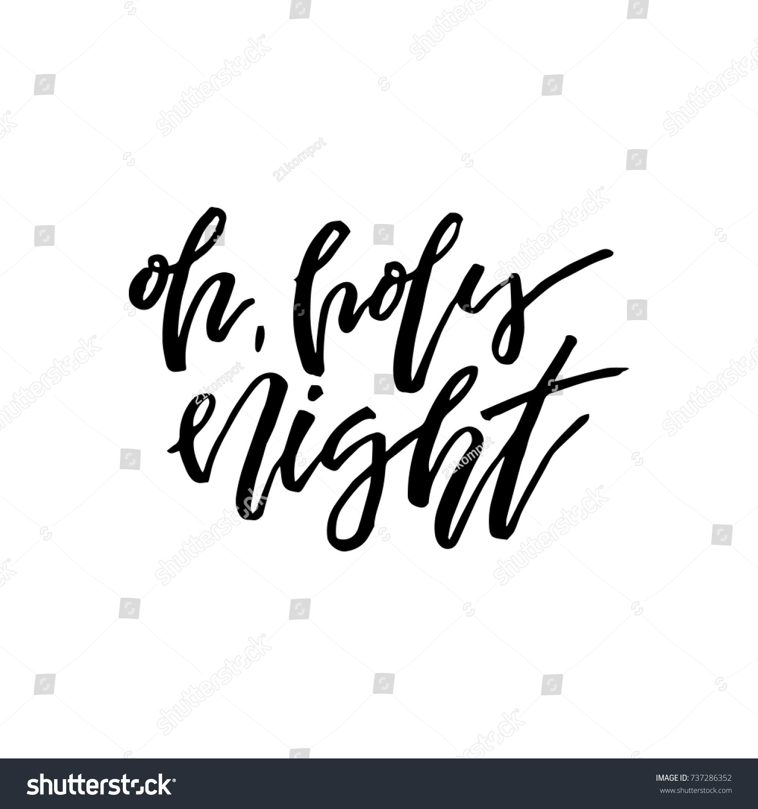 Merry christmas card calligraphy oh holy stock vector 737286352 merry christmas card with calligraphy oh holy night template for greetings kristyandbryce Image collections