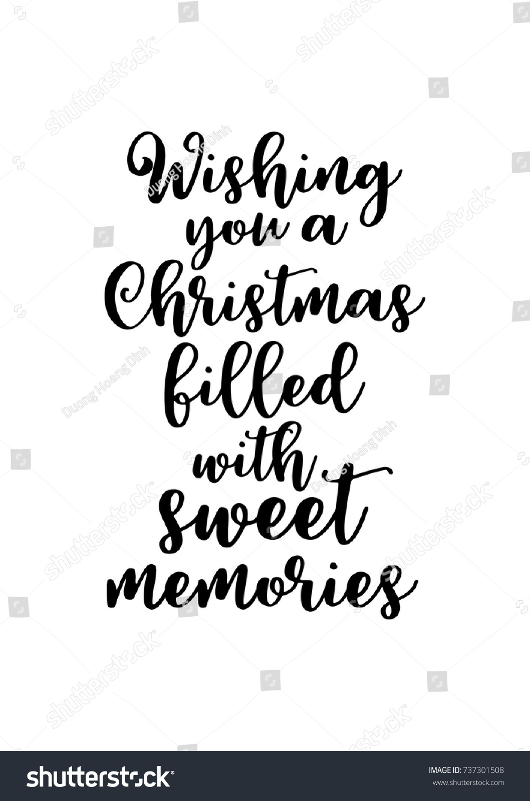 Christmas greeting card brush calligraphy vector stock vector christmas greeting card with brush calligraphy vector black with white background wishing you a kristyandbryce Gallery