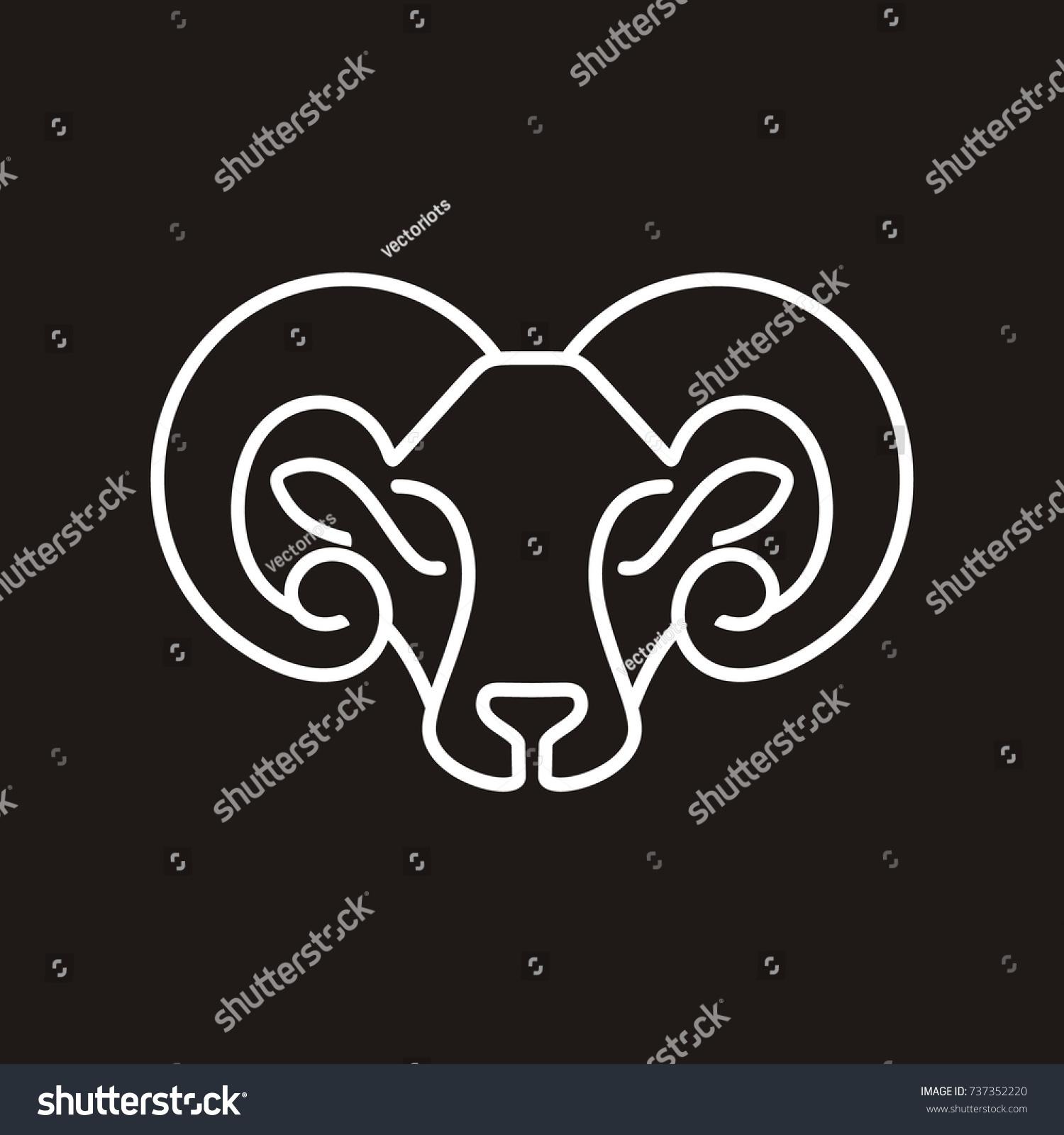 Lamb Head Logo Design Template Vector Stock Vector (Royalty Free ...