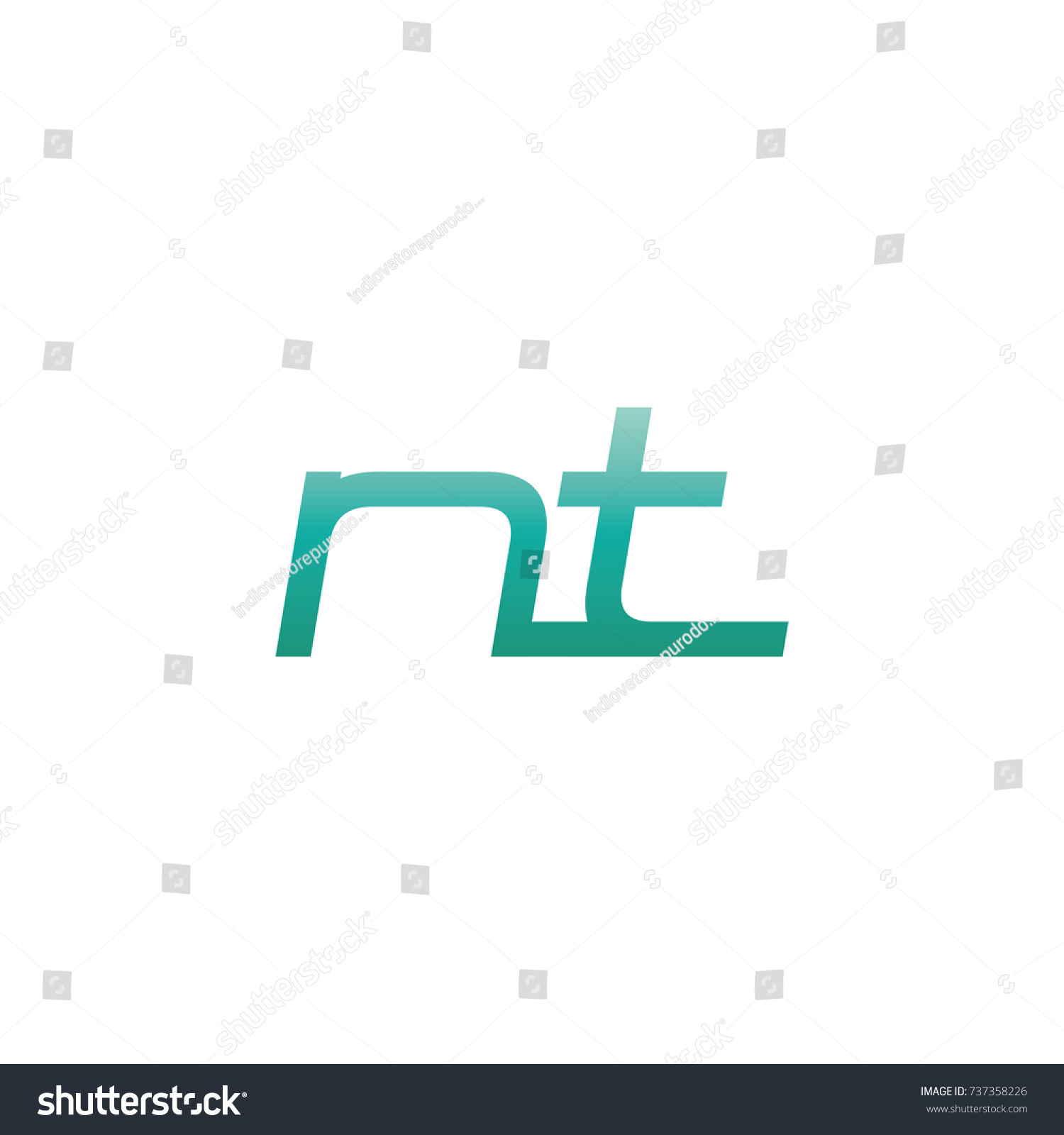 Initial Letter Nt Thin Logo Design Stock Vector Royalty Free