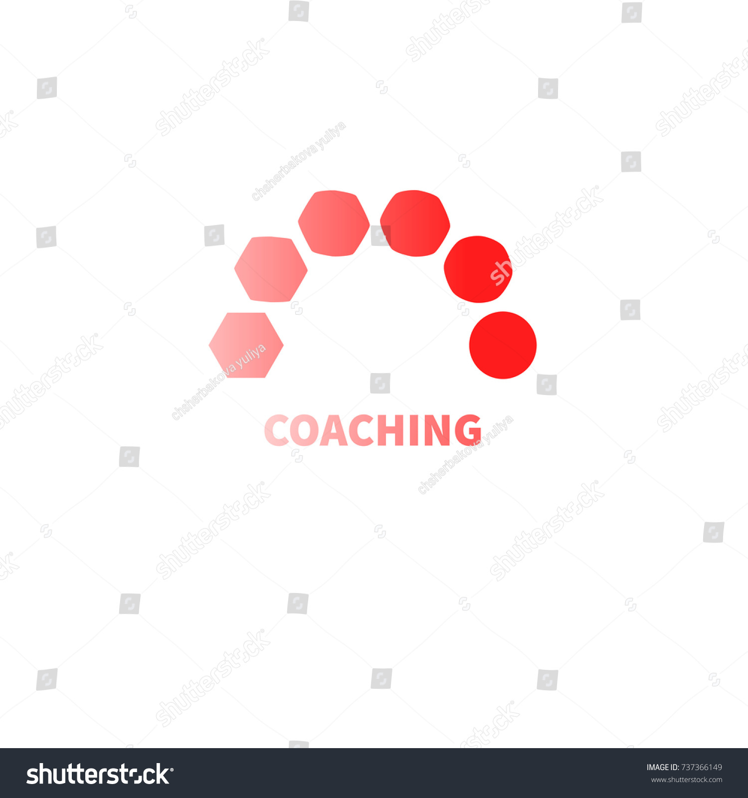 Logo Coaching Logo Transforming Transformation Symbol Stock Vector